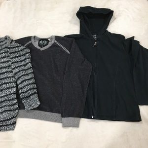Guess 3 knit turtleneck v neck sweater bundle lot
